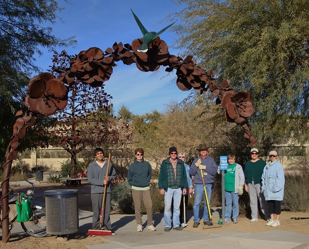 Volunteers at the Hummingbird Habitat
